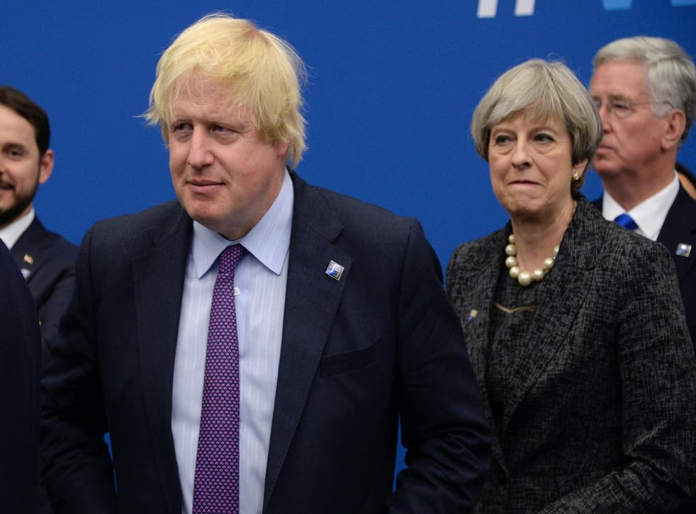 Boris Johnson clashed with Theresa May over NHS spending