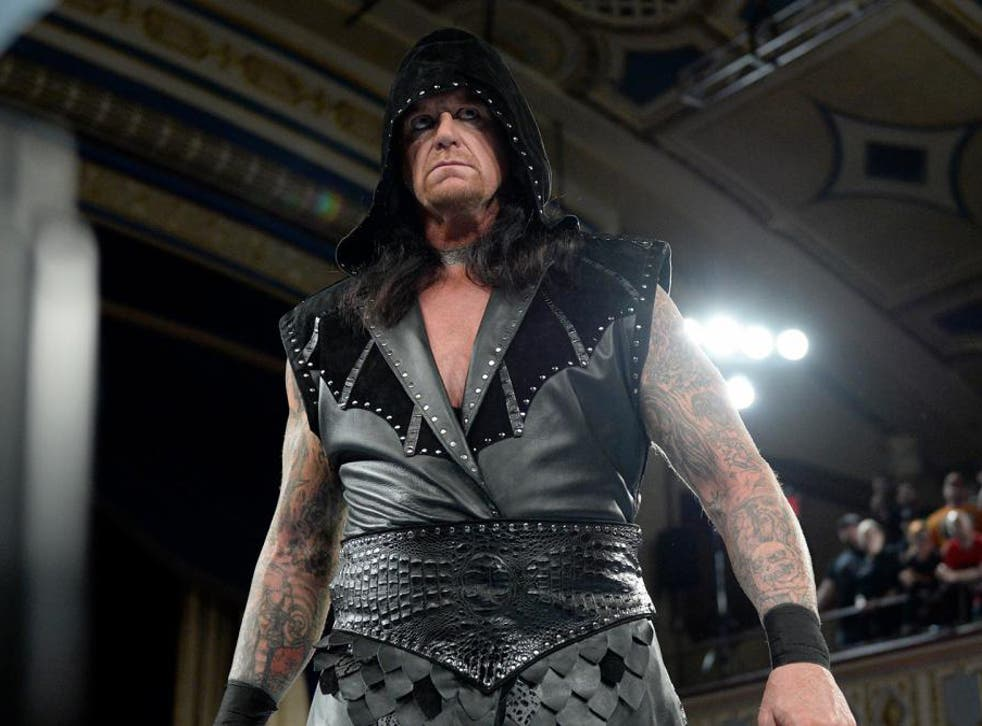 The Undertaker in action at the Manhattan Center