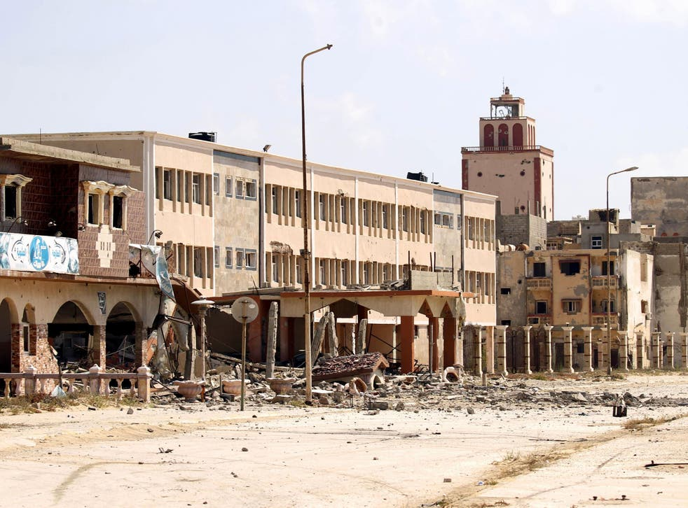A stock image taken in July 2017, which shows the damage in the Libyan city of Benghazi after warfare raged from 2014 until late last year