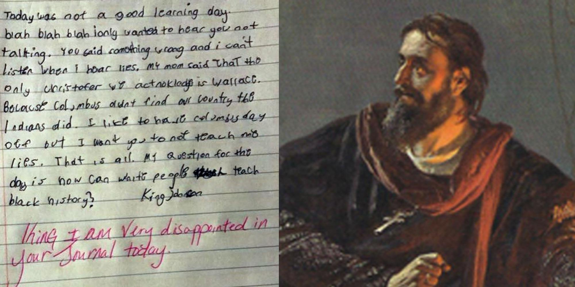 This kid myth-busted the history of Christopher Columbus to