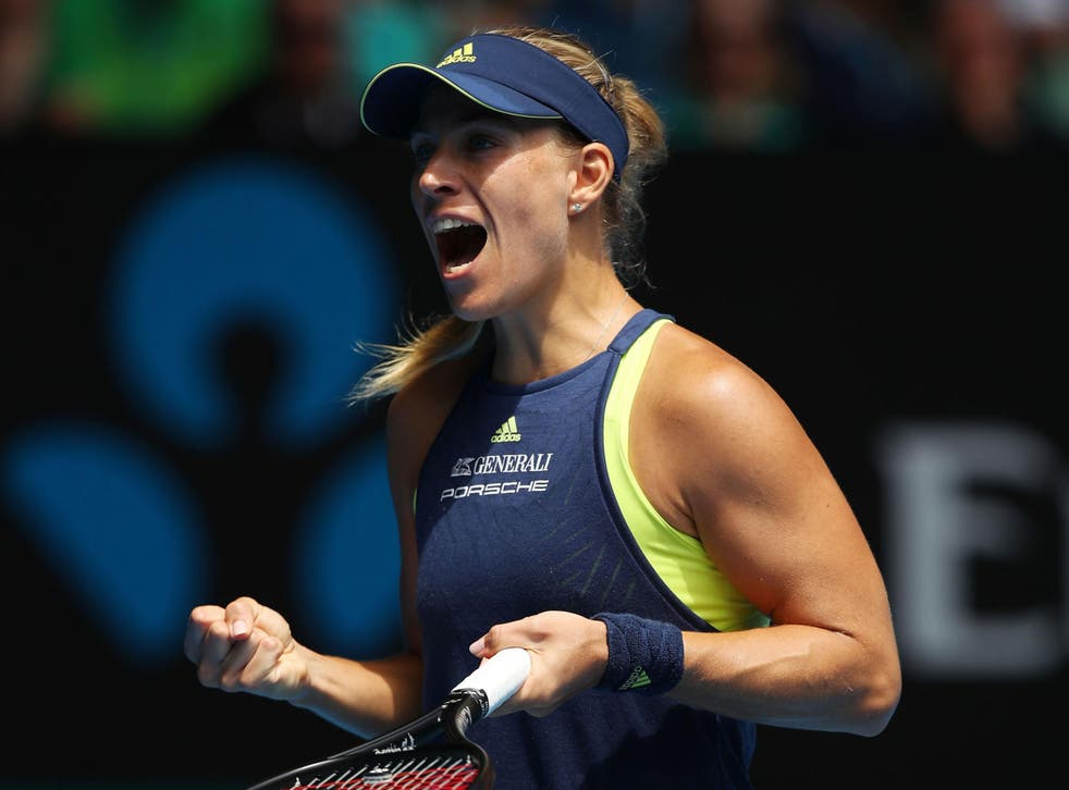Angelique Kerber marched into the last four in Melbourne