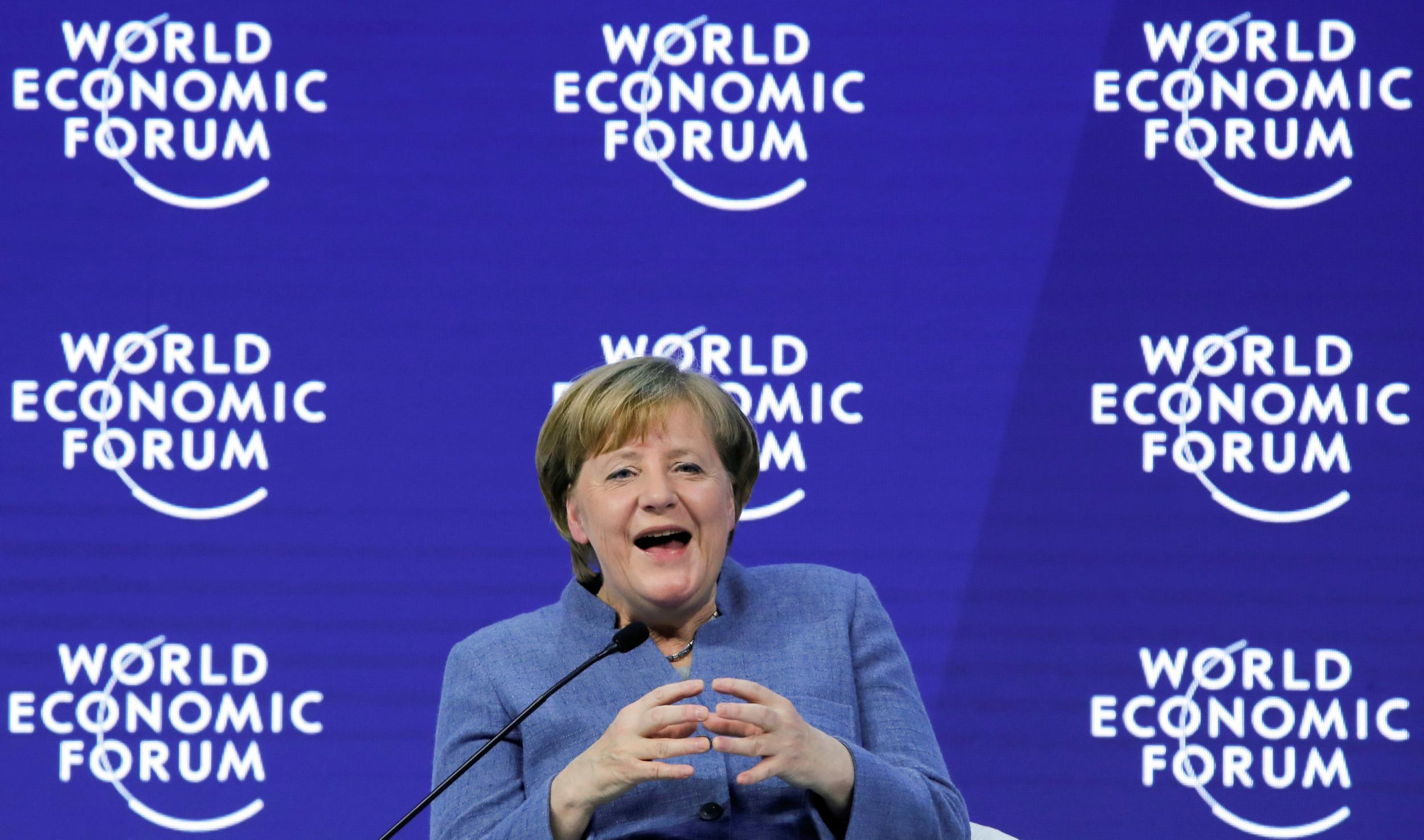 Angela Merkel at Davos: What did she say? And even though she didn't mention him, was it all about Trump?