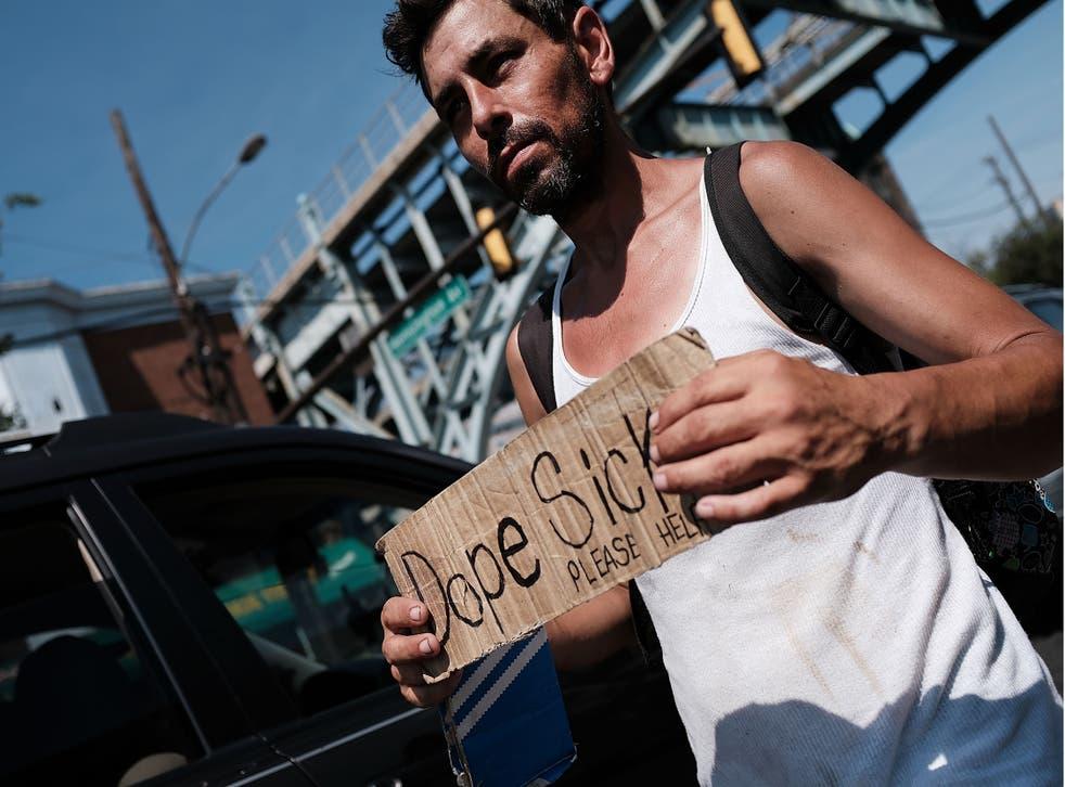 A heroin addict seeks help in Kensington, Philadelphia