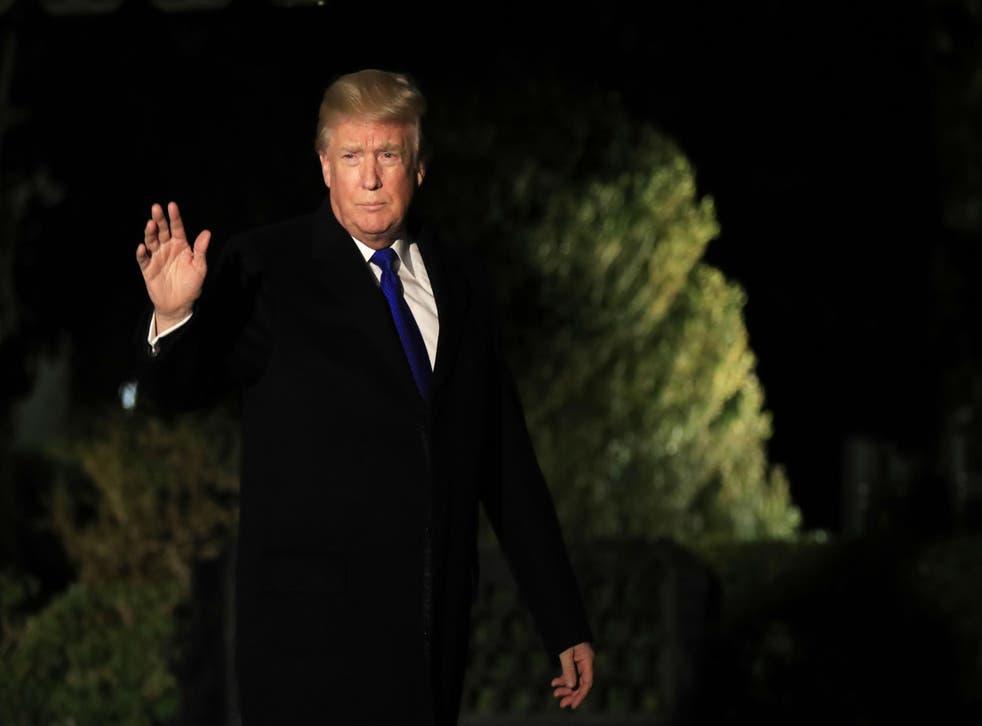 Mr Trump created new headlines before leaving for Switzerland