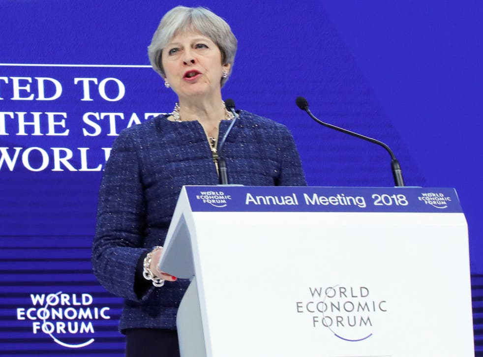 Theresa May's speech to the World Economic Forum in Davos was quickly overshadowed by her Chancellor's