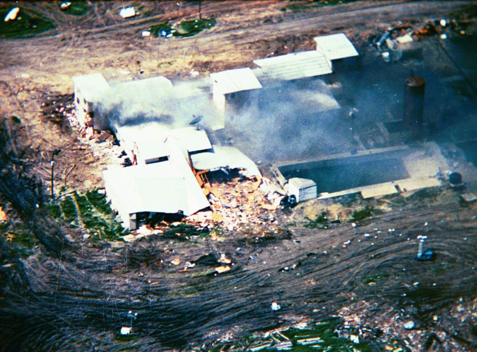 Waco, the aftermath: David Koresh and 75 followers died on 19 April 1993 when the FBI tried to storm their Mount Carmel Centre compound.  More Branch Davidians had died in the 28 February ATF raid that started the siege