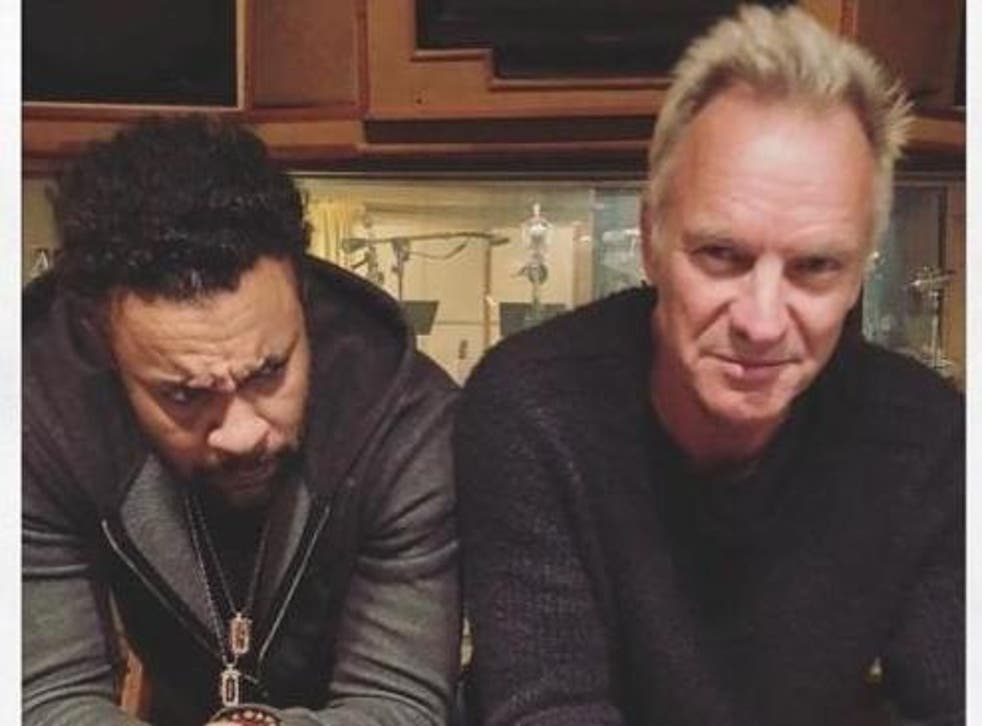 Shaggy and Sting. Credit: Twitter/@Consequence.