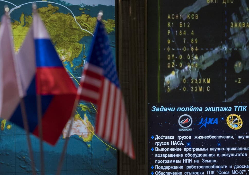 Trump administration plans to cut funding to international space icons for the international space station and soyuz ms 07 spacecraft are seen on a gumiabroncs Images