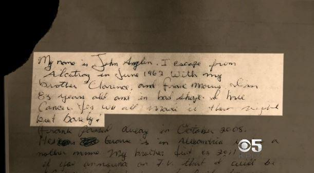 Alcatraz mystery deepens after discovery of letter signed by