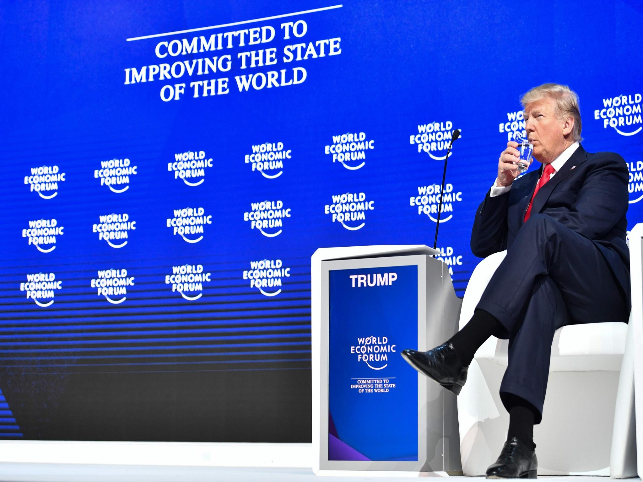 Trump In Davos 2018 What Us Presidents Speech Means For Prospects Wiring A Table Saw Electrical Diy Chatroom Home Improvement Forum Of Global Trade War The Independent