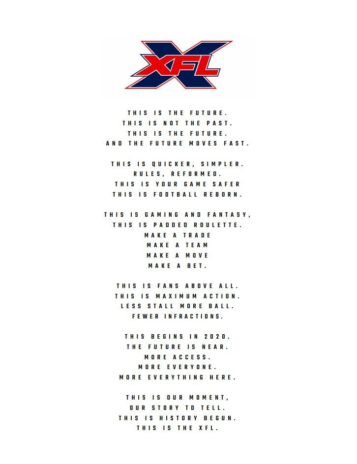 Xfl What Is It When Will It Launch How Is It Different To Nfl And