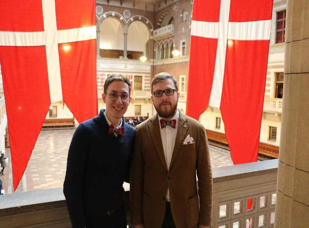 Eugene Wojciechowski (left) and Pavel Stotzko were surprised when their union was officially registered