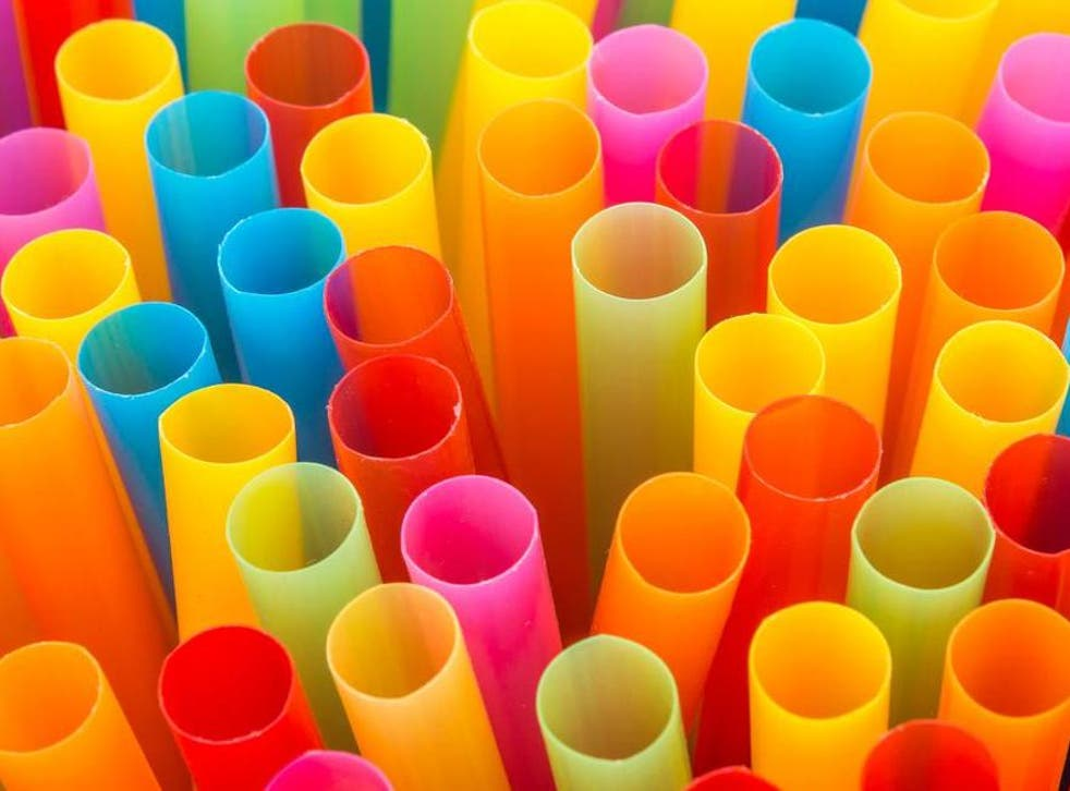 Colourful drinking straws.