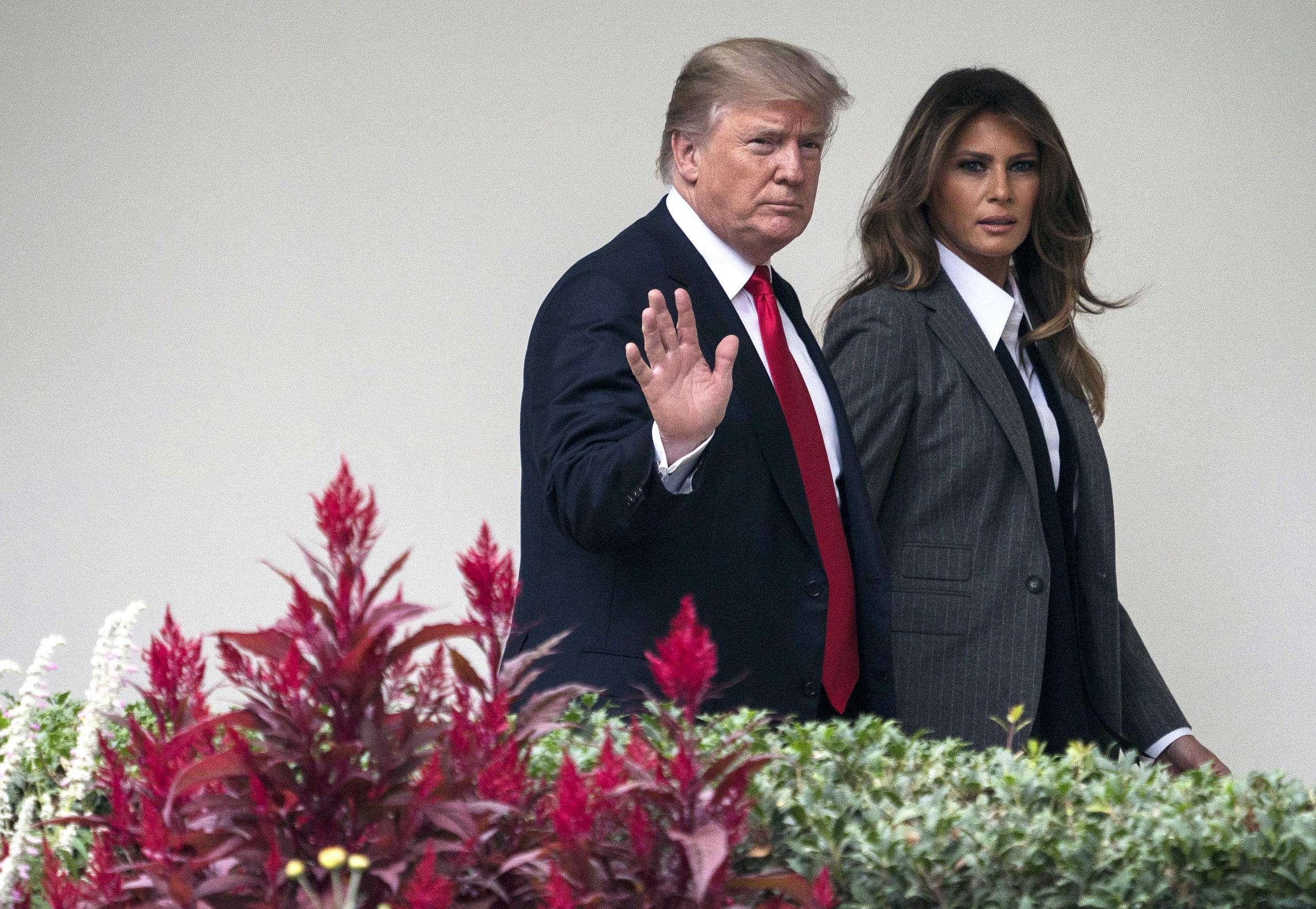 dfa86b17860 Melania Trump breaks silence over President s alleged  porn star affair   after staying home during Davos trip