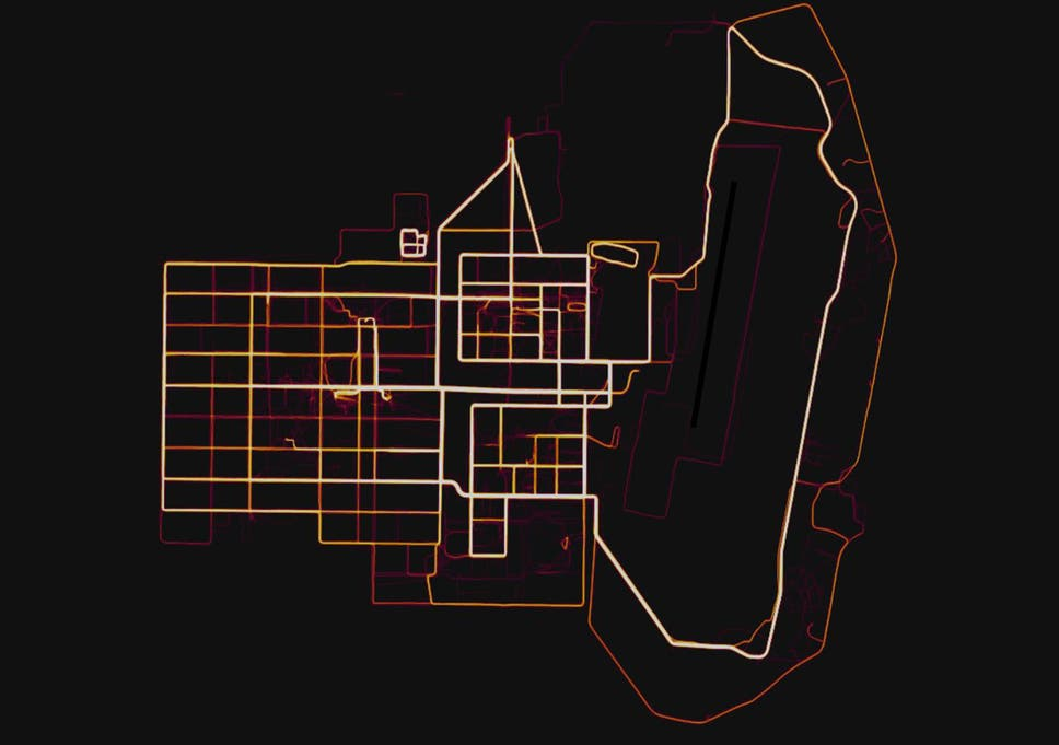 Strava fitness map \'accidentally revealed the location of secret ...