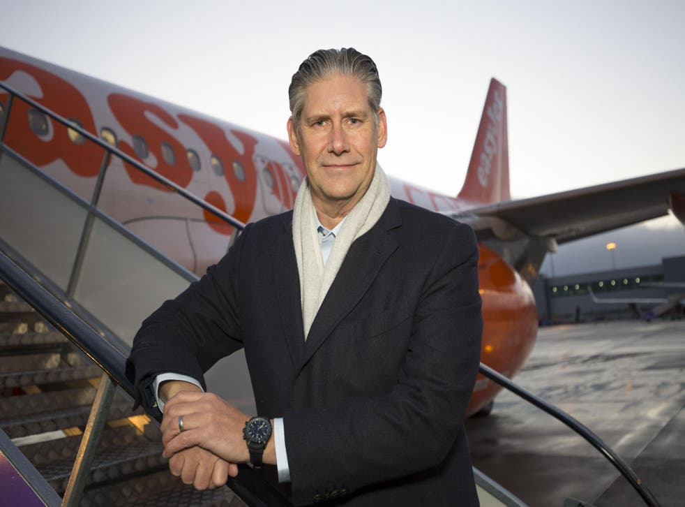 The airline's chief executive Johan Lundgren will reduce his salary to that of his predecessor Carolyn McCall