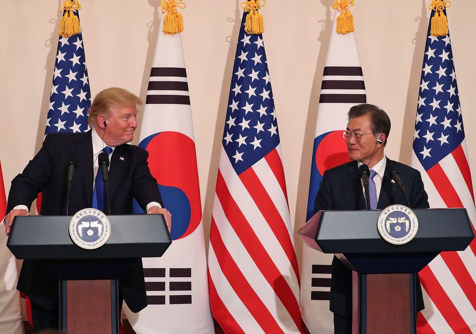 Us war with north korea may be unthinkable but will diplomacy and us president donald trump talks with south korean president moon jae in fandeluxe Image collections