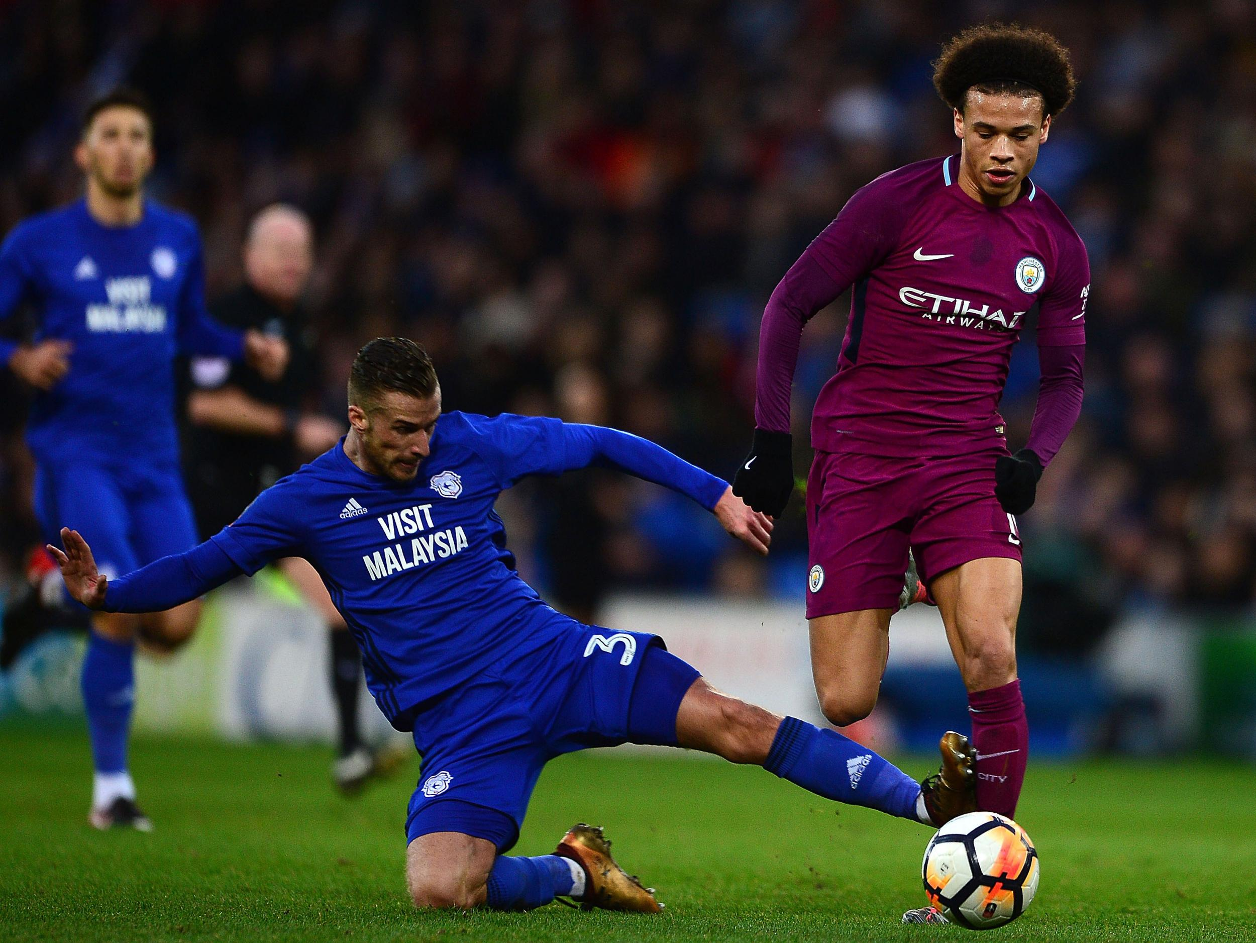 Joe Bennetts Tackle On Leroy Sane Led To Criticism From Pep Guardiola Getty