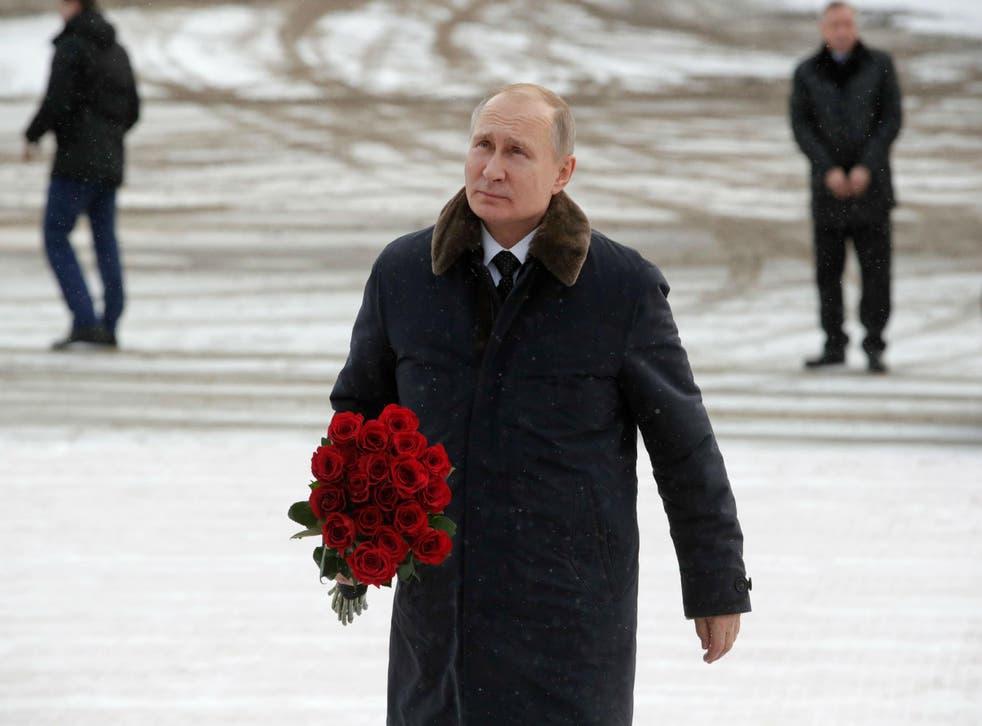 Mr Putin has denounced the measures
