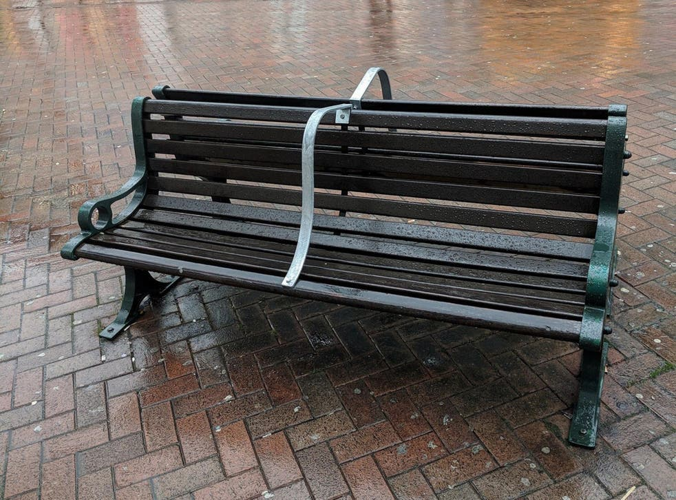 Bournemouth Borough Council has installed metal bars on town-centre benches to stop people sleeping on them