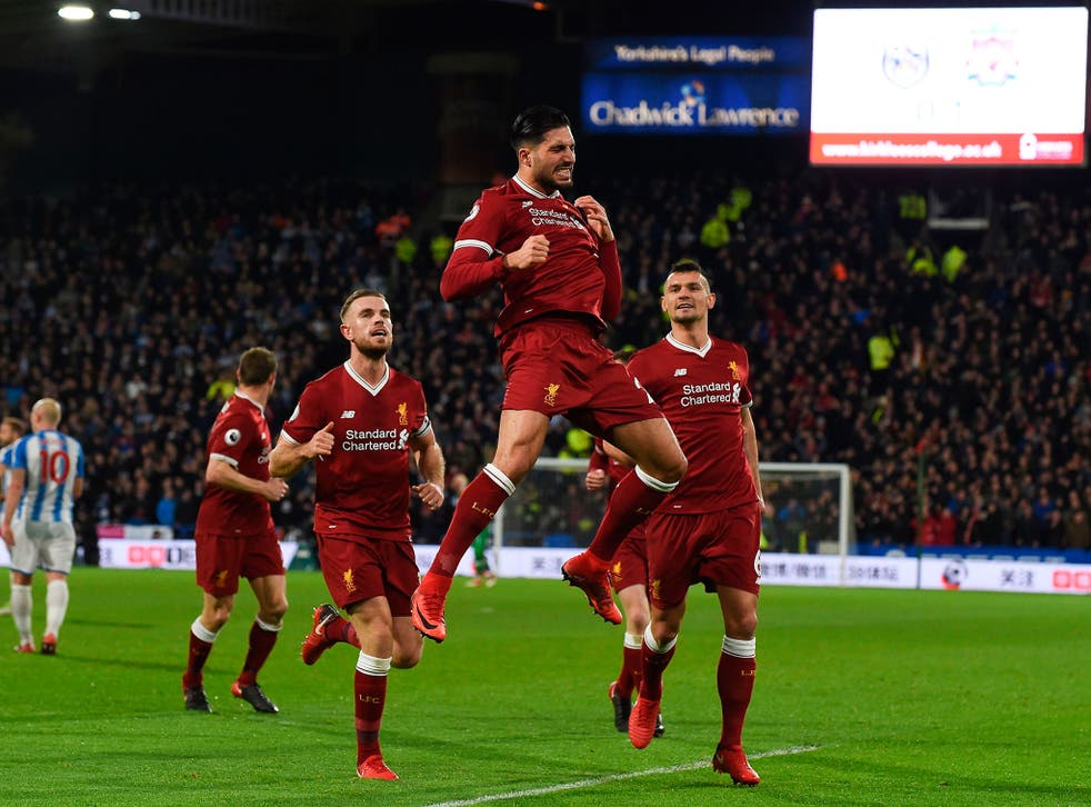 Emre Can handed Liverpool the lead with his deflected strike