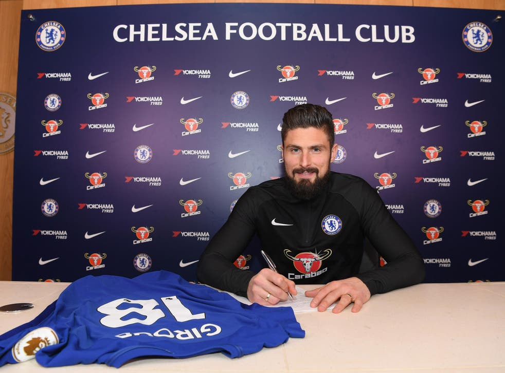 Giroud will wear the No 18 shirt at Chelsea