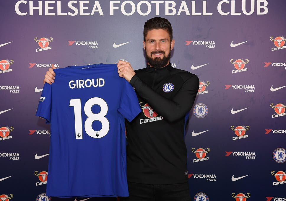 213bc133a9f Olivier Giroud to wear No 18 shirt at Chelsea after completing move from  Arsenal