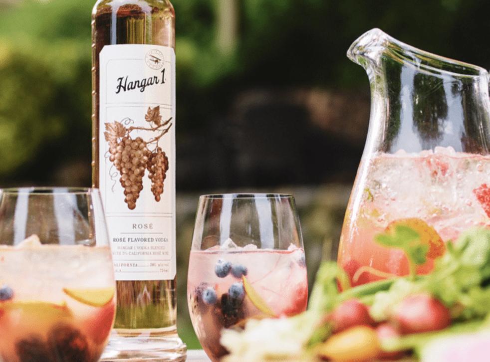Hangar 1's rose vodka has arrived (Instagram @hangar1vodka)