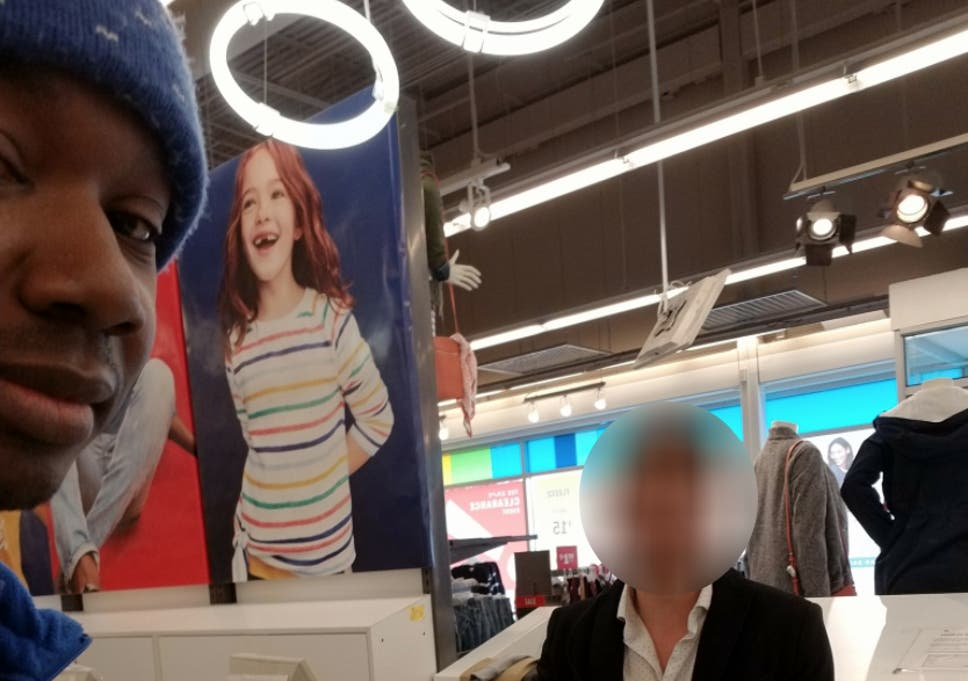 112cabf61b4 James Conley claims he was racially profiled at an Old Navy store in Iowa