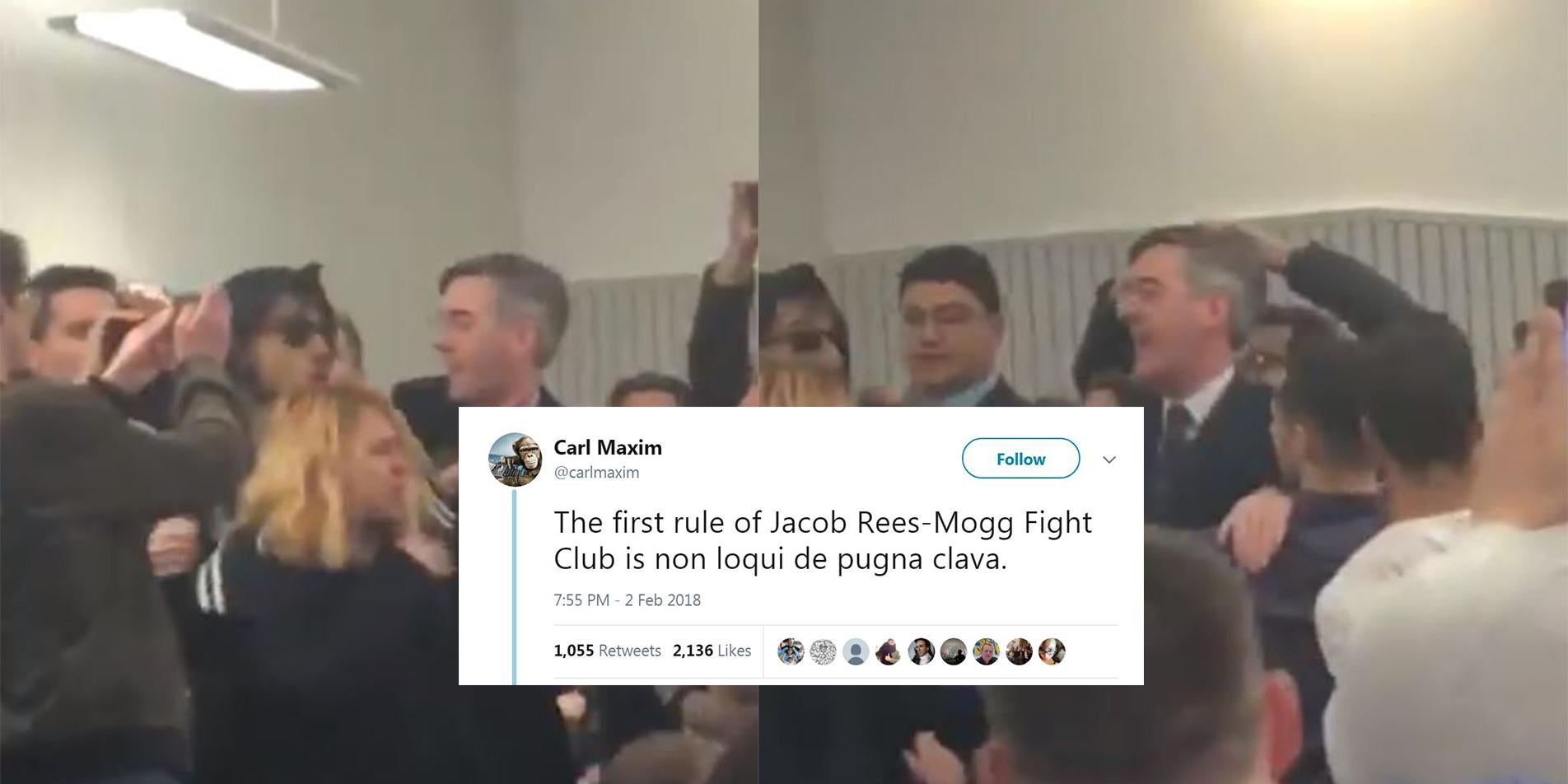 Just 8 really funny jokes about the Jacob Rees-Mogg scuffle | indy100