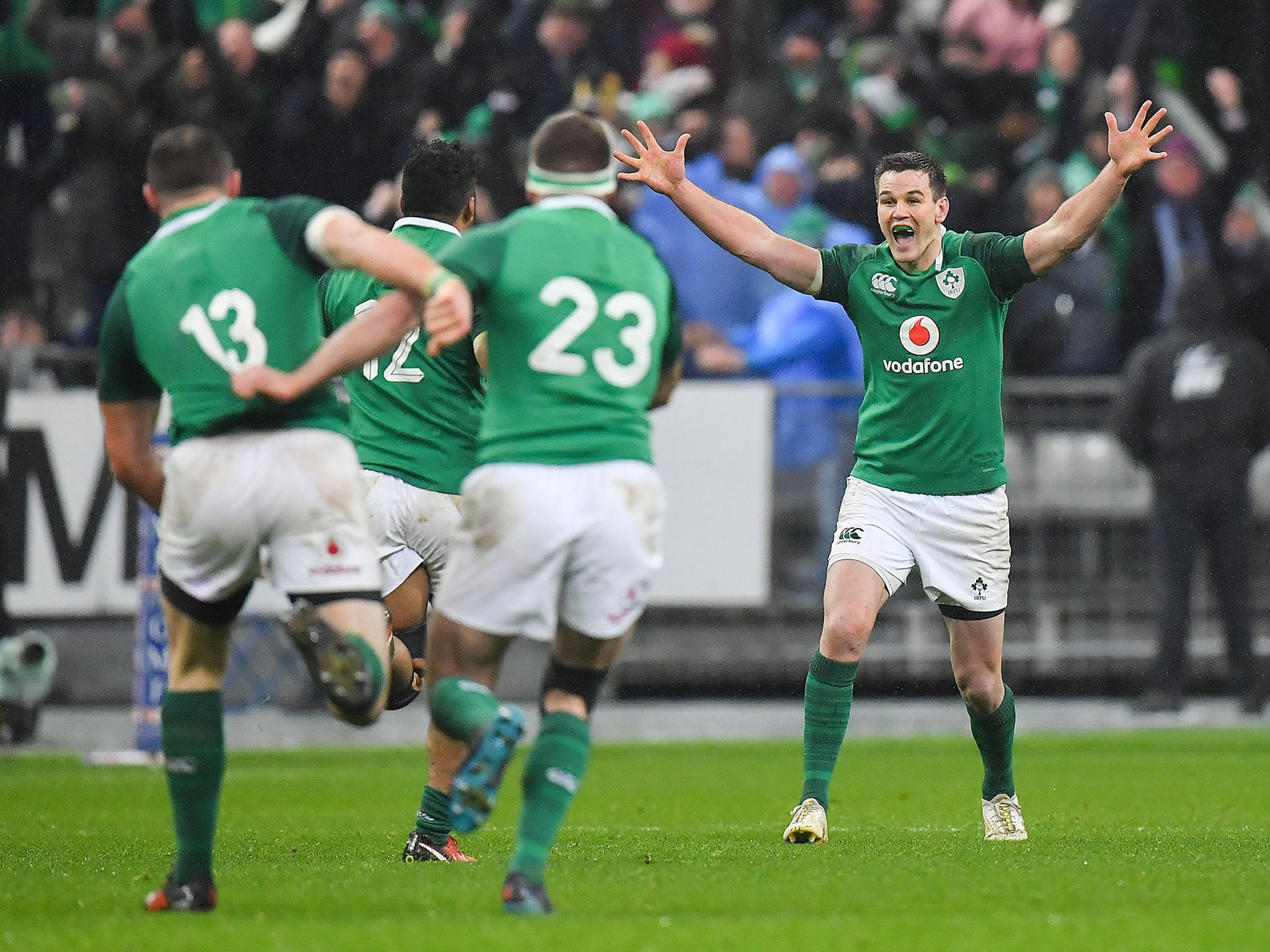 Johnny Sexton drop-goal clinches Ireland victory at the death after France fight back in Six Nations opener