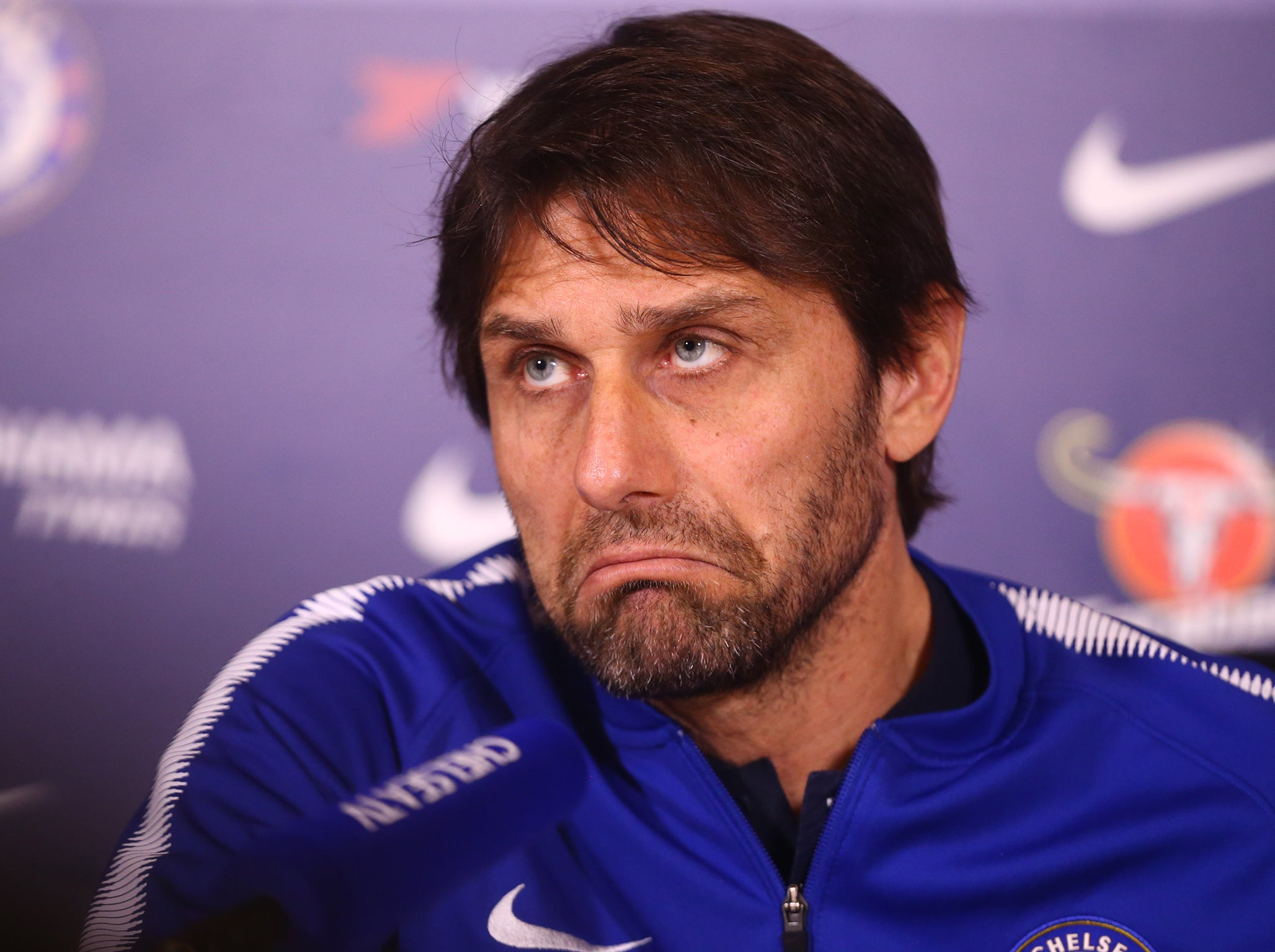 Antonio Conte defends coaching ability and says trying to persuade Chelsea to buy top players has been a 'disaster'