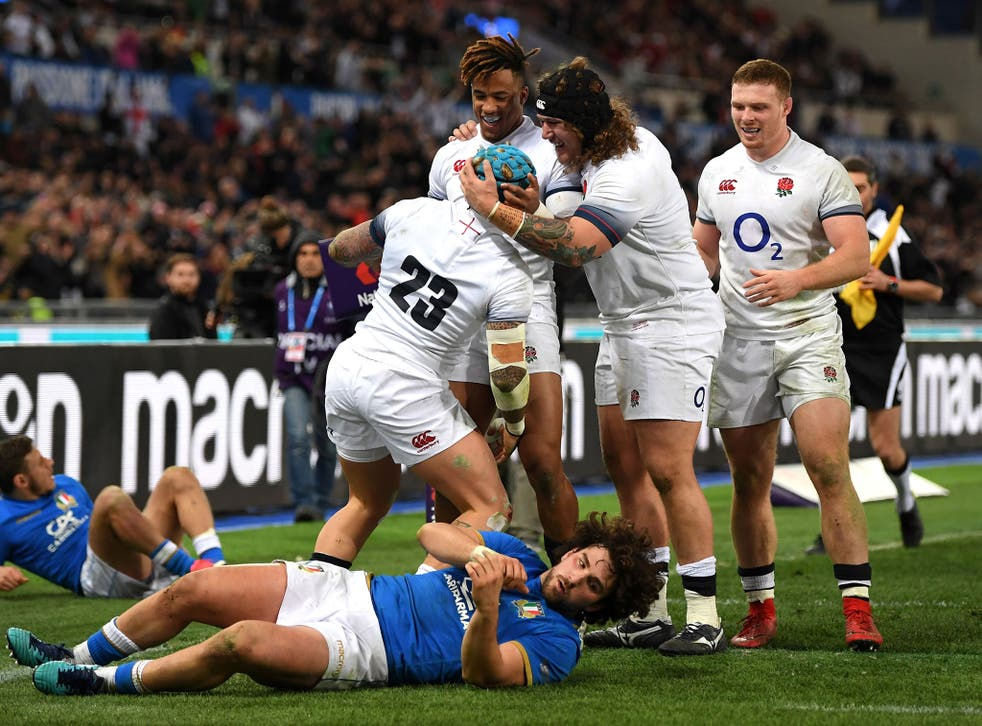 England posted a total of seven tries against their opponents