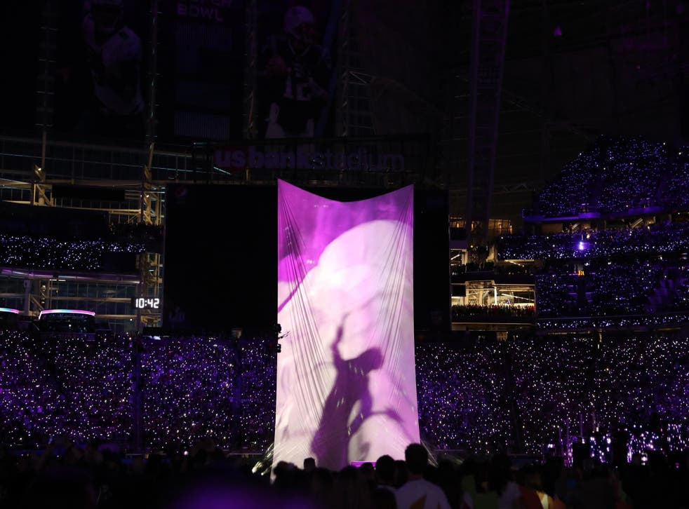 Justin Timberlake's Prince tribute at the 2018 Super Bowl. Credit: Shutterstock.