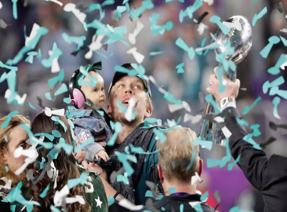 Nick Foles helped the Eagles win their first-ever Vince Lombardi trophy