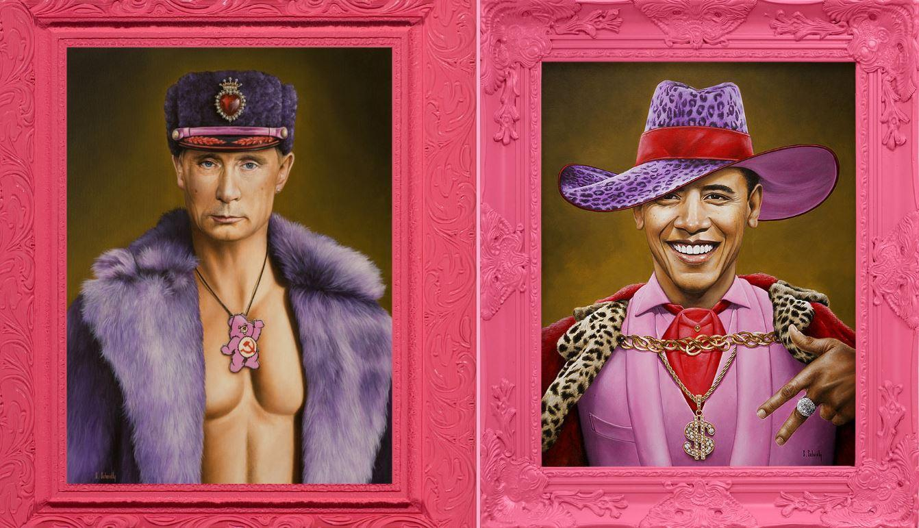100 Famous People Painting: This Artist Is Challenging Masculinity With His Pink