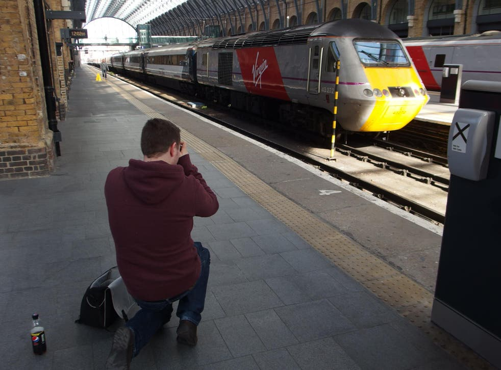 Better days: the first Virgin Trains East Coast arrival at London King's Cross, on 1 March 2015