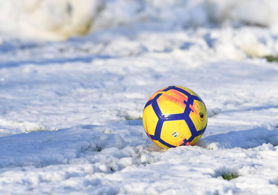Image result for snow covered soccer balls
