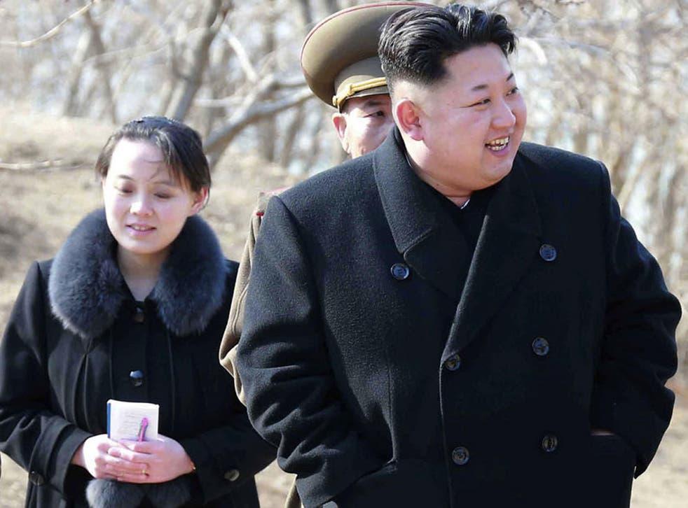 North Korean leader Kim Jong-un and his sister Kim Yo-jong