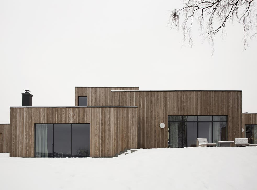 The architects were inspired by the minimalistic cluster homes of the Seventies