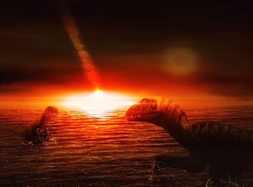 A meteor strike could have triggered eruptions that helped wipe out three-quarters of all species on Earth, including dinosaurs