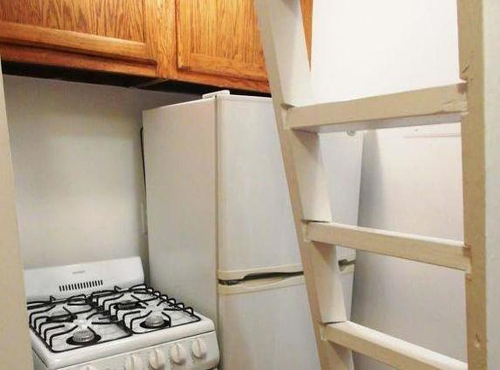 A ladder in the kitchen leads to the sleeping area (CitiHabitats)