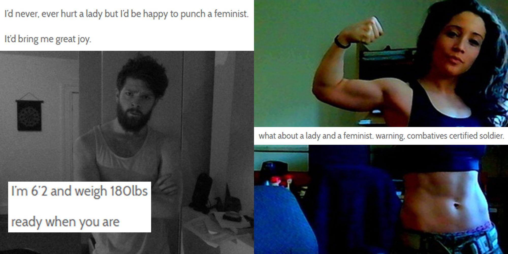This man said he wanted to punch a feminist. It really, really backfired
