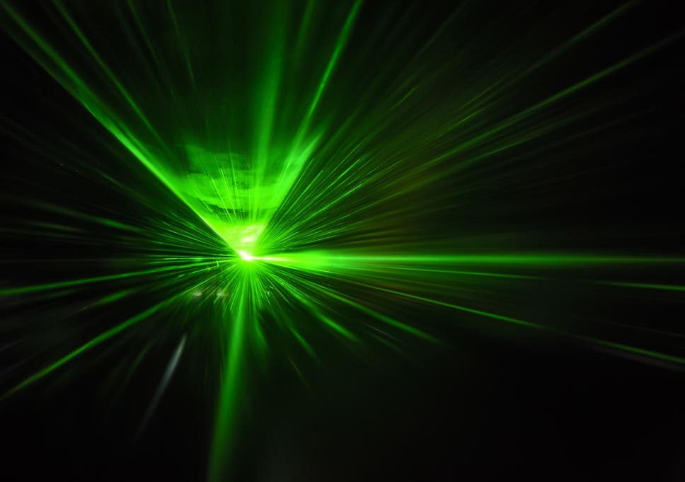 Ultra-intense laser' stops electrons travelling at near