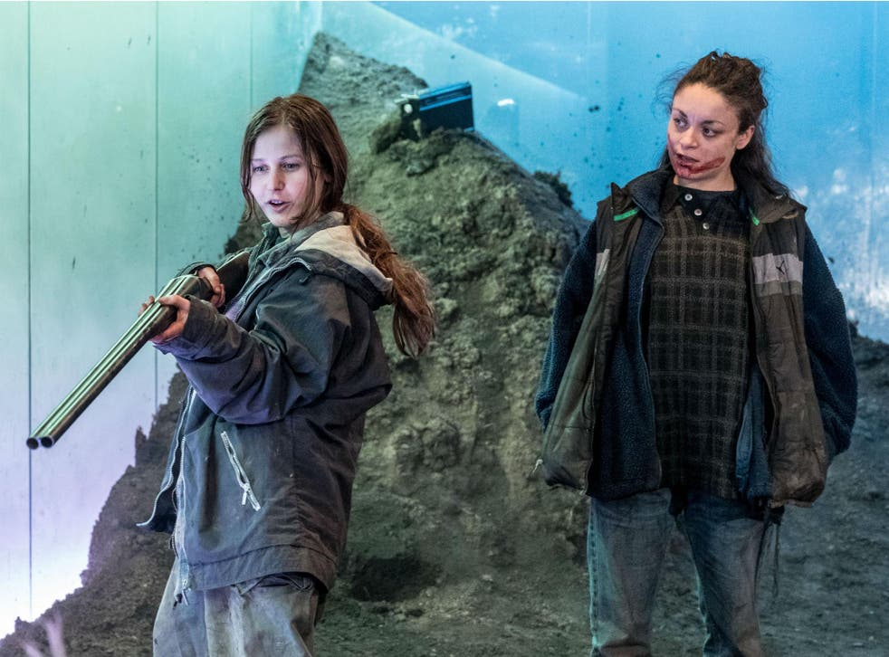 Ria Zmitrowicz as Becky and Rochenda Sandall as Anna in a production which eloquently raises many existential questions