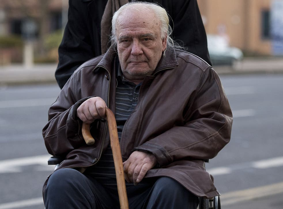 Vladimir Bukovsky arriving at Cambridge Crown Court in December 2016 to deny child pornography allegations.  He was not present at Monday's hearing