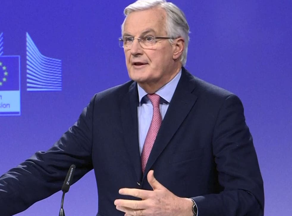 Michel Barnier has set out a series of disagreements with the UK over the transition period