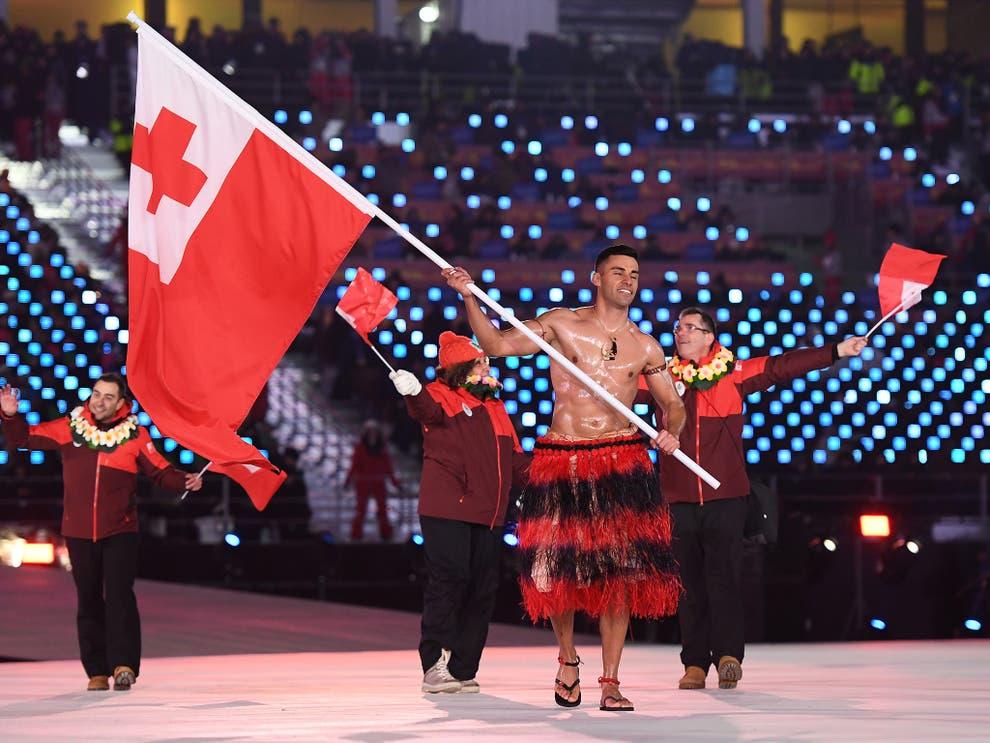 Winter Olympics 2018: Tongas topless star Pita Taufatofua