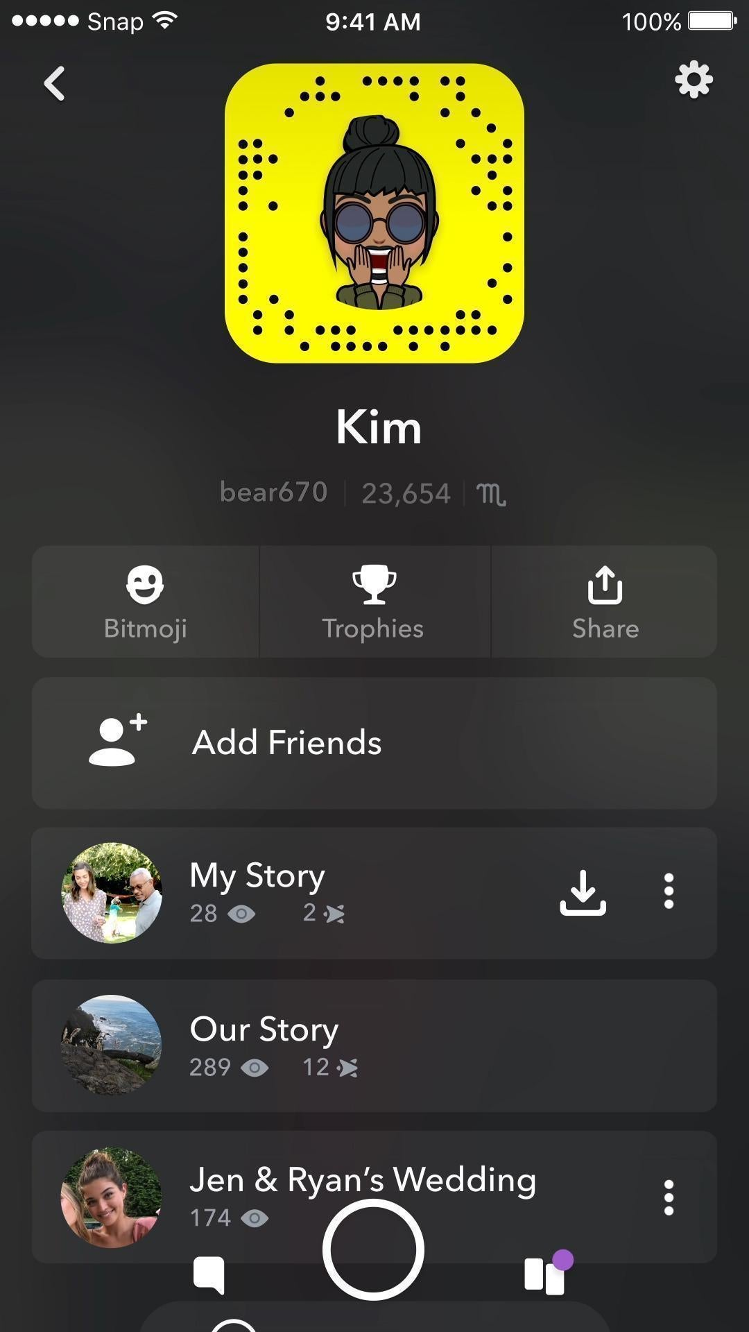 How do you watch my story on snapchat