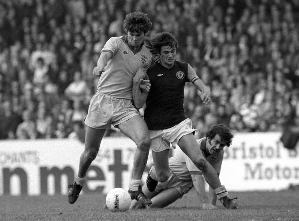 Brian Little is pushed off the ball by Birmingham's Joe Gallagher